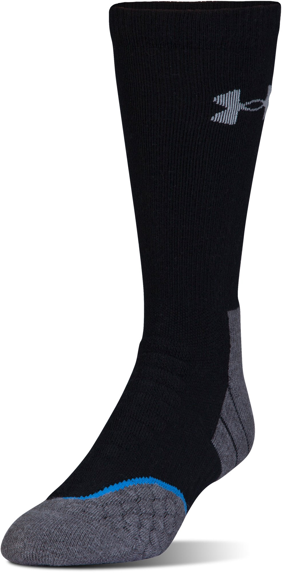 Men's UA All Season Cool Boot Socks, Black