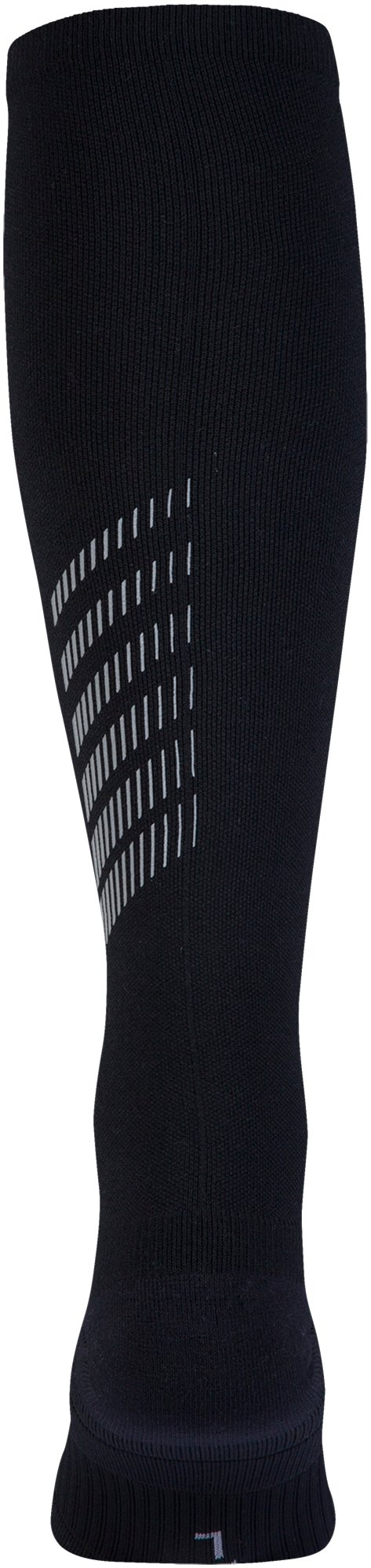 Men's UA Reflective Over-The-Calf Socks, Black ,