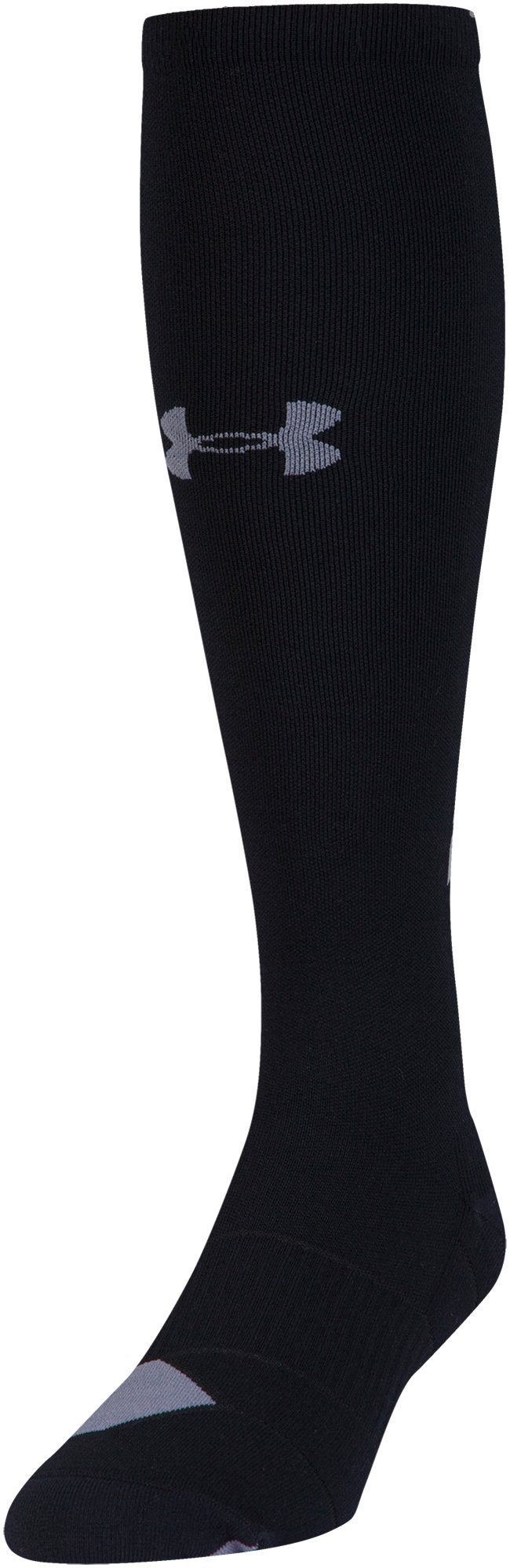 Men's UA Reflective Over-The-Calf Socks, Black , undefined
