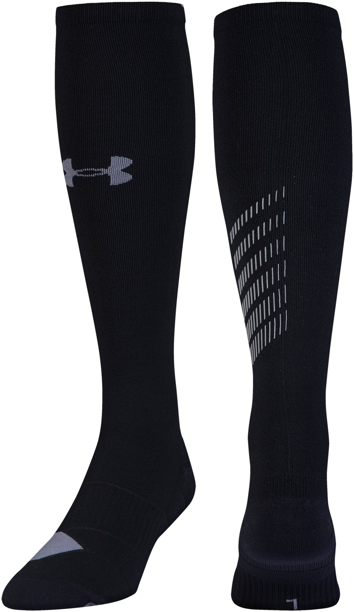 Men's UA Reflective Over-The-Calf Socks, Black