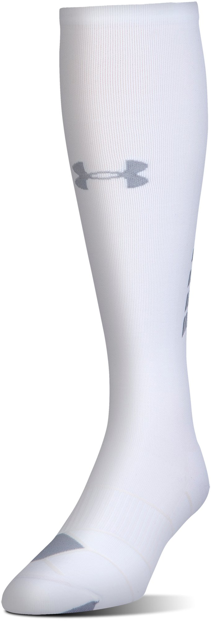 Men's UA Reflective Over-The-Calf Socks, White, undefined