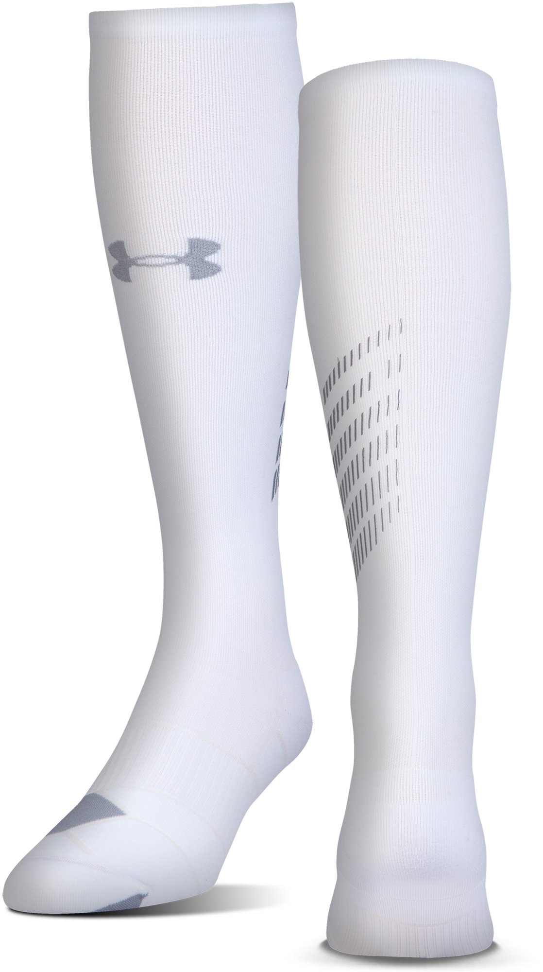 Men's UA Reflective Over-The-Calf Socks, White