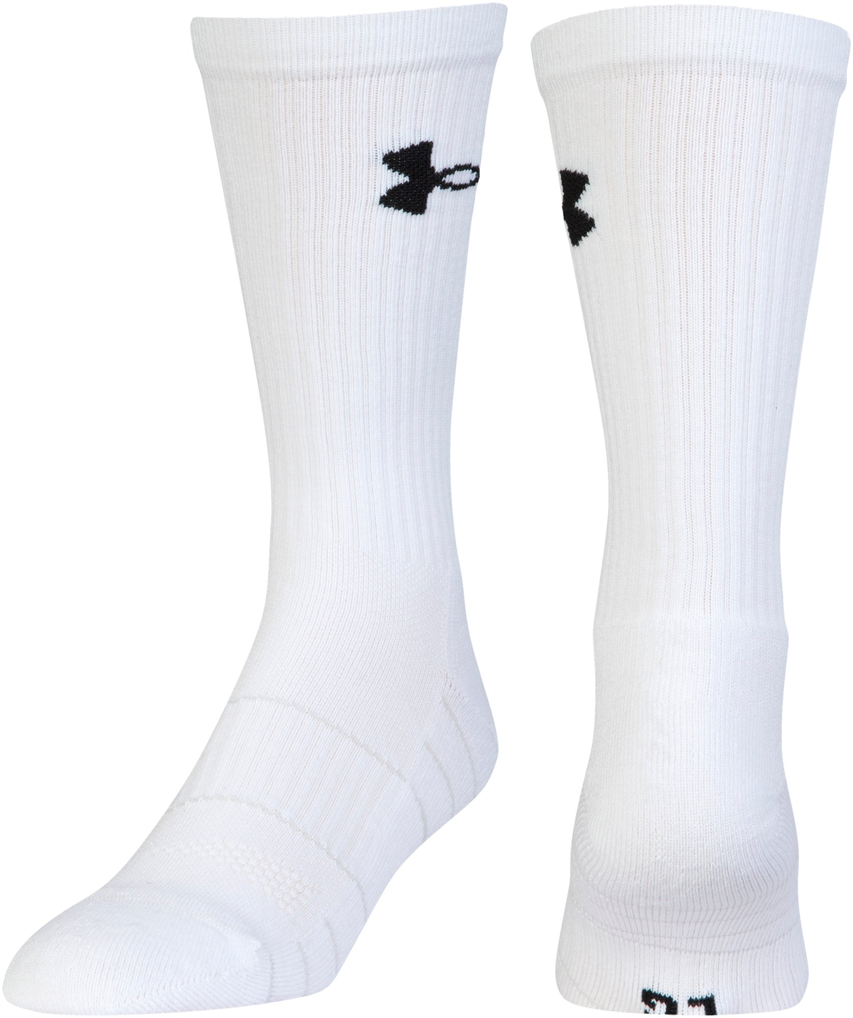 Men's UA Golf Elevated Performance Crew Socks – 2-Pack, White, undefined
