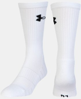 Men's UA Golf Elevated Performance Crew Socks – 2-Pack  1 Color $16.99