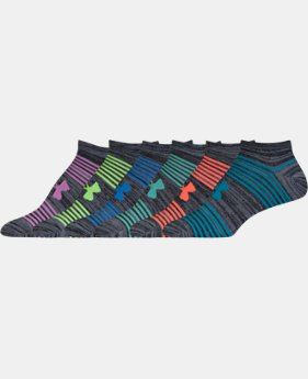Women's UA Essential Twist 2.0 No Show Socks - 6 Pack   1 Color $19.99