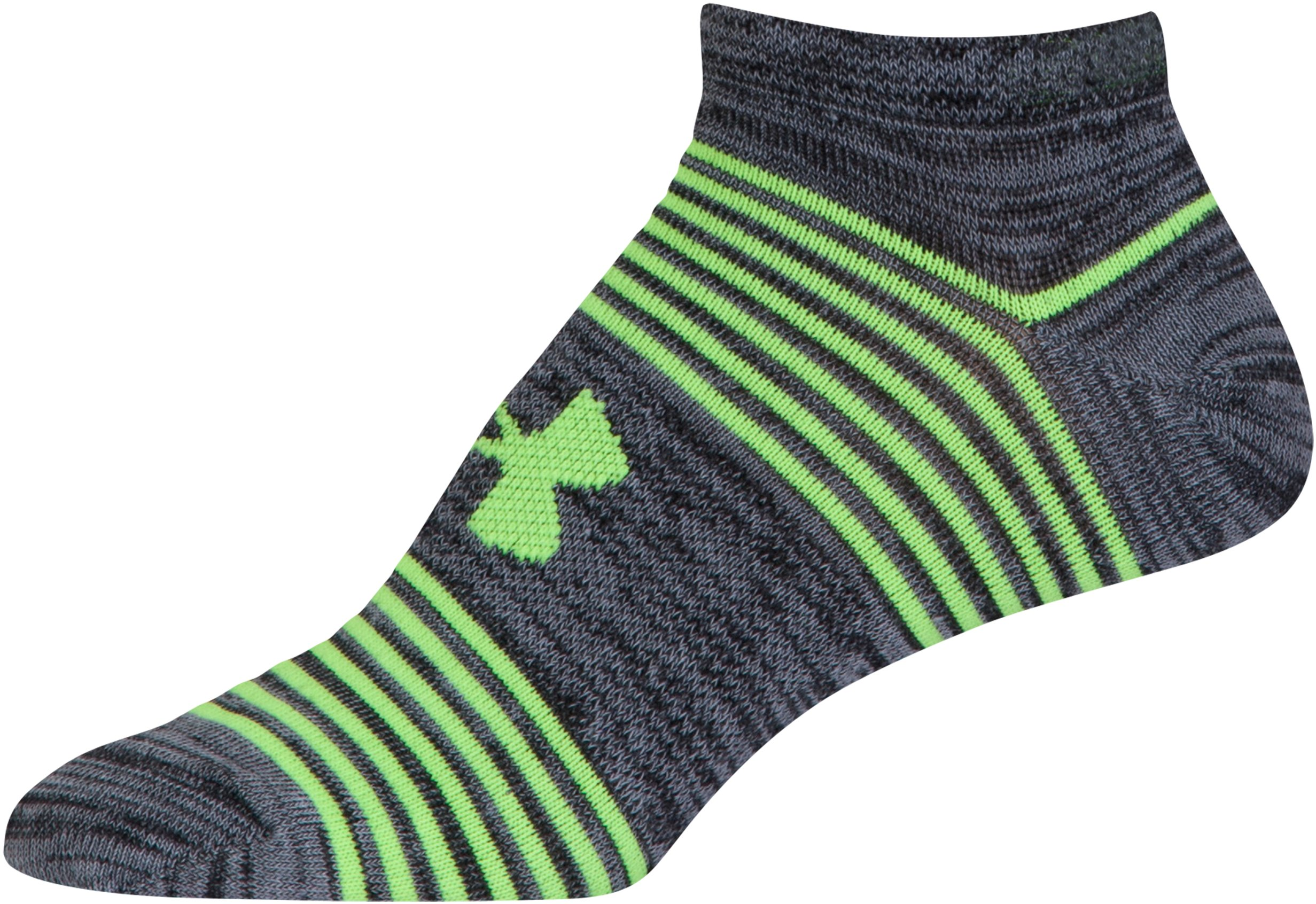 Women's UA Essential Twist 2.0 No Show Socks - 6 Pack , Black ,