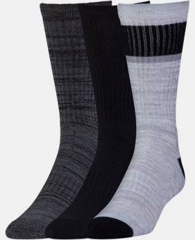 New Arrival Men's UA Twisted 2.0 Crew Socks - 3 Pack   3 Colors $19.99