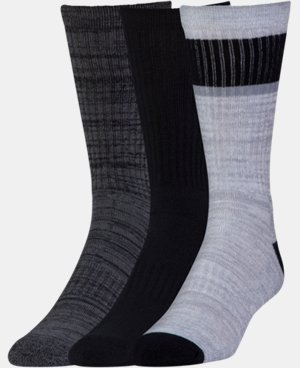 Men's UA Twisted 2.0 Crew Socks - 3 Pack  LIMITED TIME: FREE U.S. SHIPPING 3 Colors $19.99