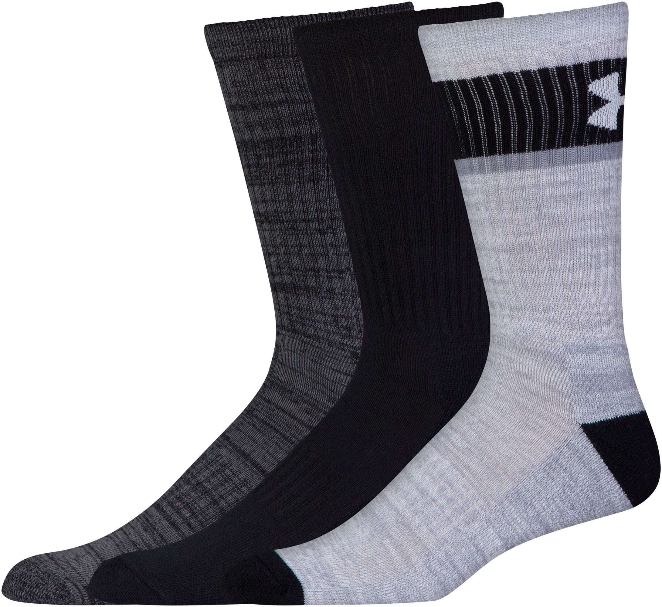 Men's UA Twisted 2.0 Crew Socks - 3 Pack , Black