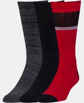 New Arrival Men's UA Twisted 2.0 Crew Socks - 3 Pack   1 Color $19.99