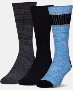 Men's UA Twisted 2.0 Crew Socks - 3 Pack   1 Color $19.99