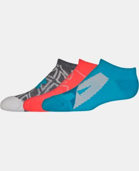 Girls' UA NEXT 2.0 SoLo Socks – 3 Pack  1 Color $13.99