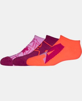 Girls' UA NEXT 2.0 SoLo Socks – 3 Pack LIMITED TIME: FREE U.S. SHIPPING 2 Colors $13.99