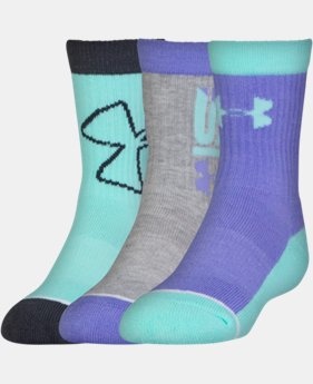 New Arrival Girls' UA NEXT Crew Socks – 3 Pack  1 Color $18.99