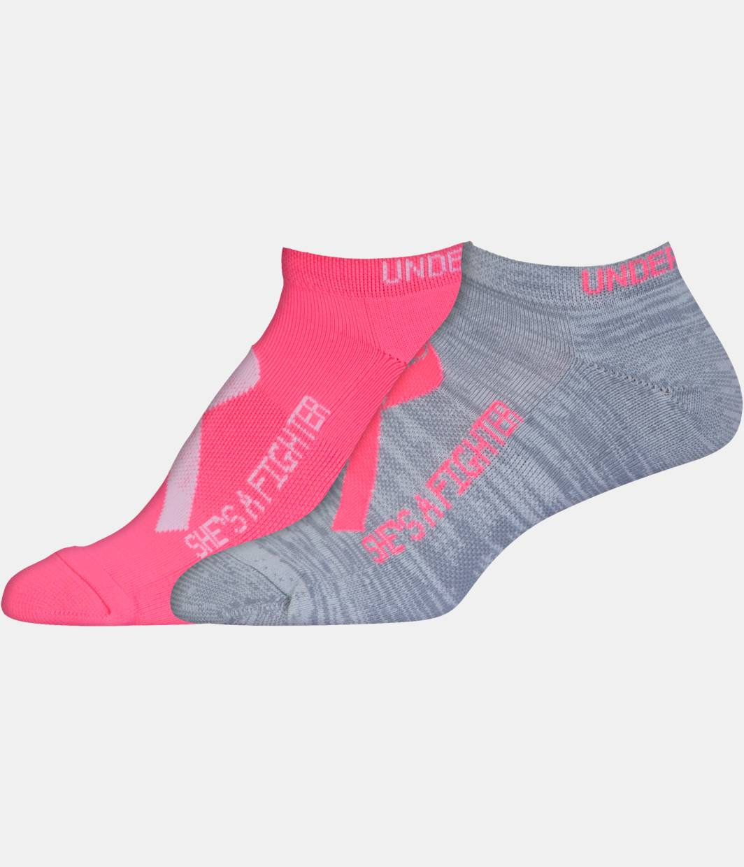 Women's UA Power In Pink® 2.0 No Show Socks – 2 Pack ...
