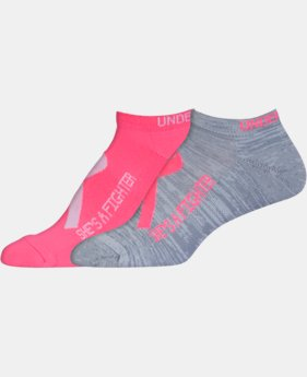 2-Pack Women's UA Power In Pink® 2.0 No Show Socks – 2 Pack  1 Color $13.99