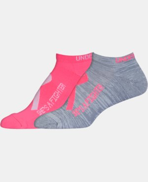 2-Pack Women's UA Power In Pink® 2.0 No Show Socks – 2 Pack LIMITED TIME: FREE U.S. SHIPPING 1 Color $13.99