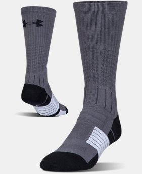 Best Seller Men's UA Unrivaled Crew Socks  1  Color Available $14.99