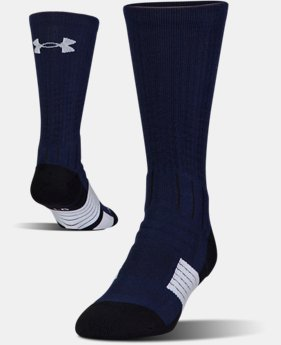 Best Seller Men's UA Unrivaled Crew Socks  1  Color Available $14.99 to $15