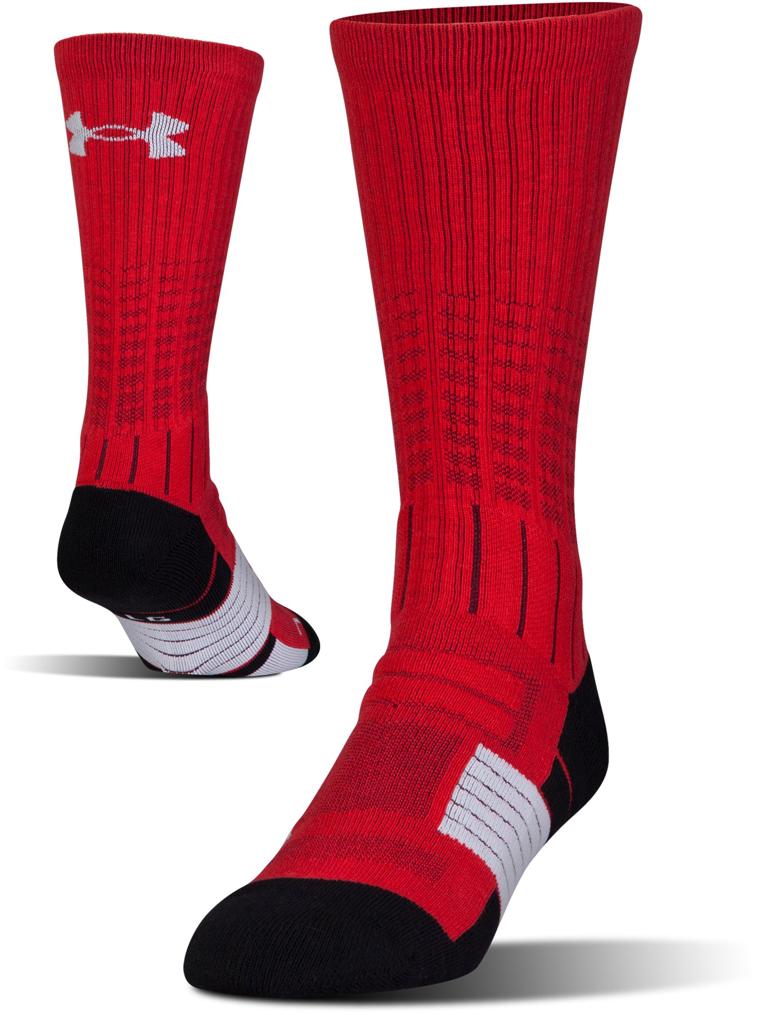 Men's UA Unrivaled Crew Socks, Red, undefined