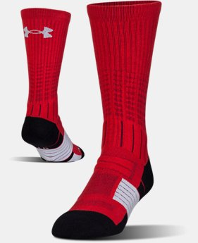 Best Seller Men's UA Unrivaled Crew Socks  2  Colors Available $14.99