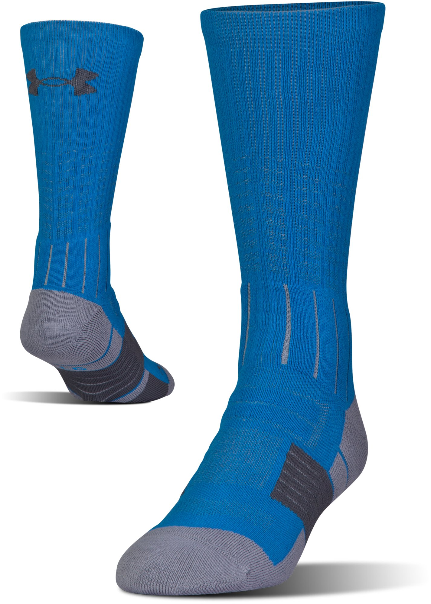Men's UA Unrivaled Crew Socks, BRILLIANT BLUE