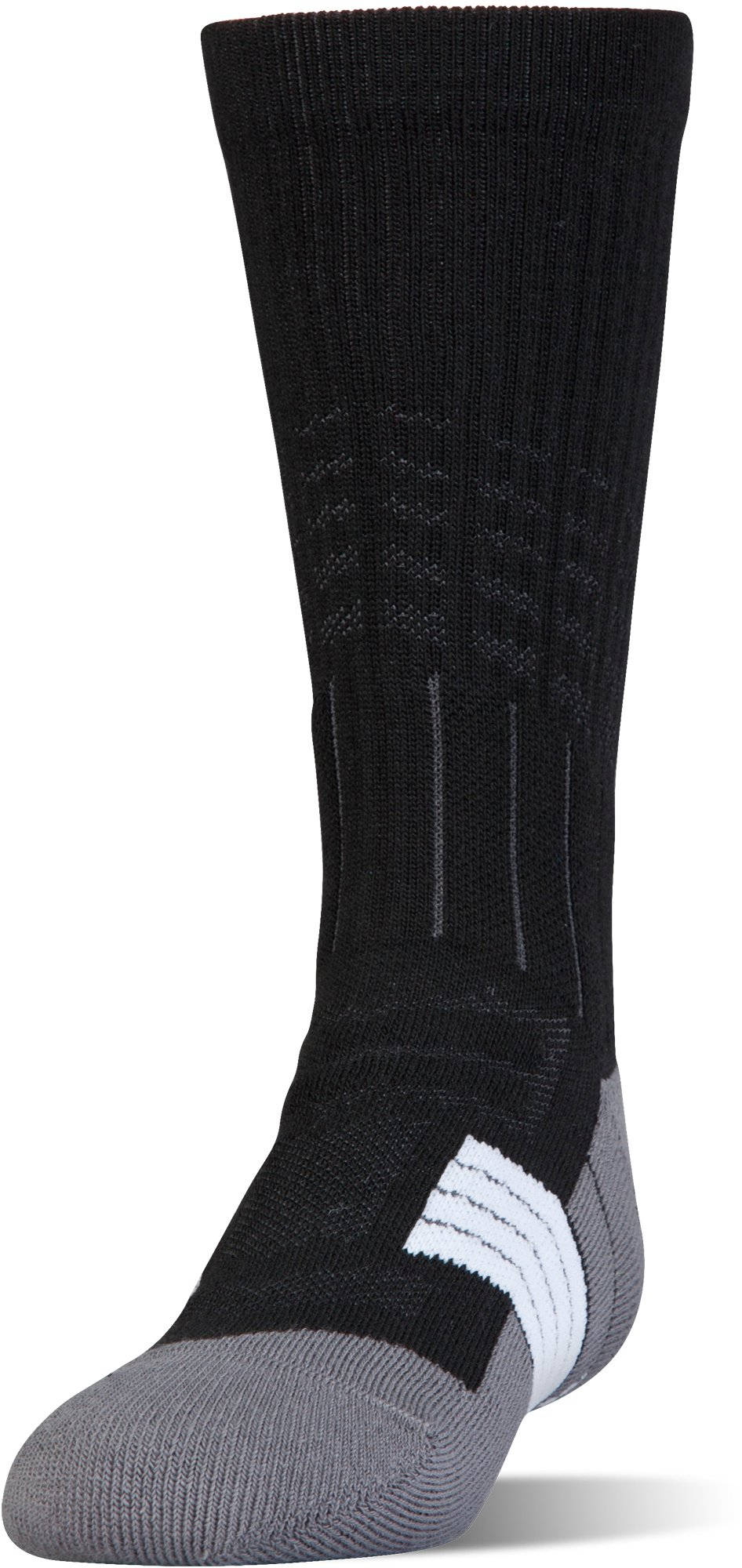 Boys' UA Unrivaled Crew Socks, Black