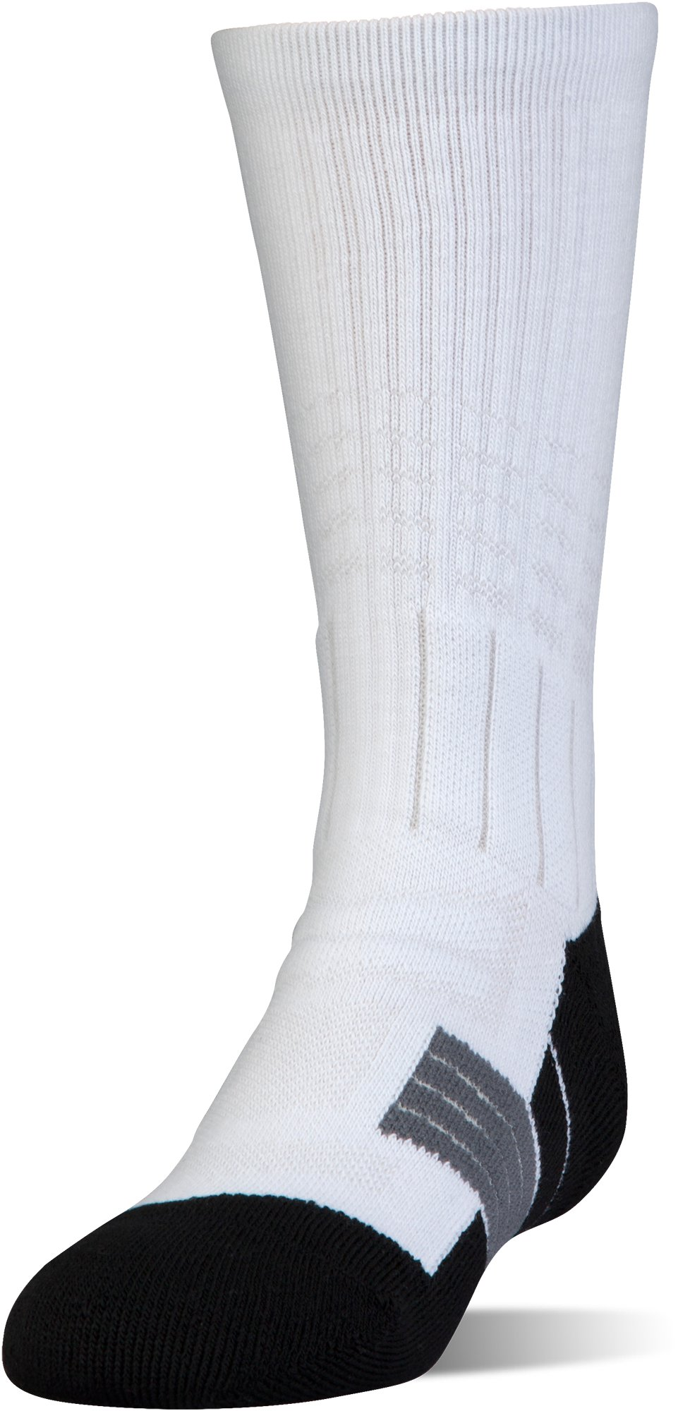 Boys' UA Unrivaled Crew Socks, White,