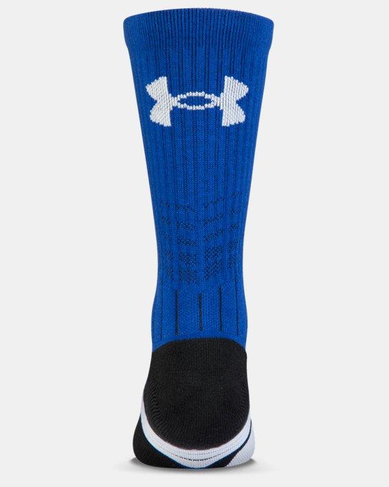 Boys' UA Unrivaled Crew Socks, Blue, pdpMainDesktop image number 1