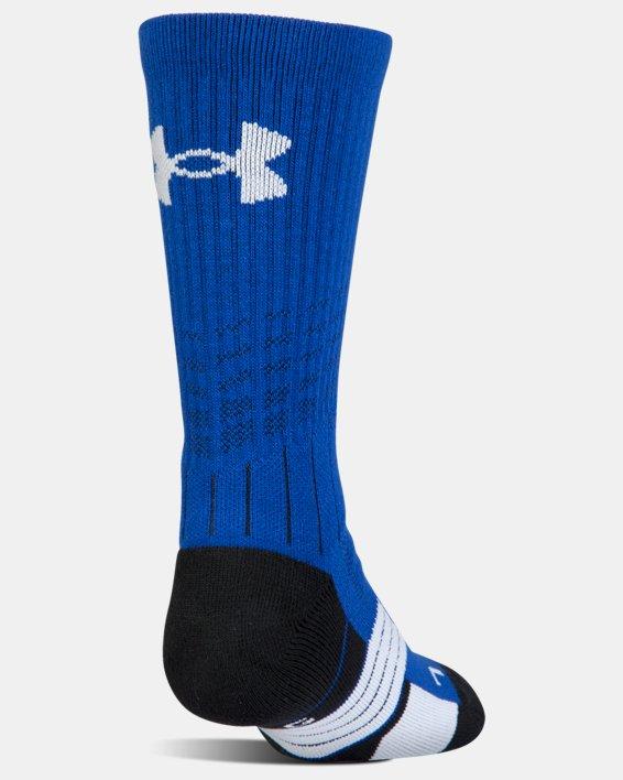 Boys' UA Unrivaled Crew Socks, Blue, pdpMainDesktop image number 2