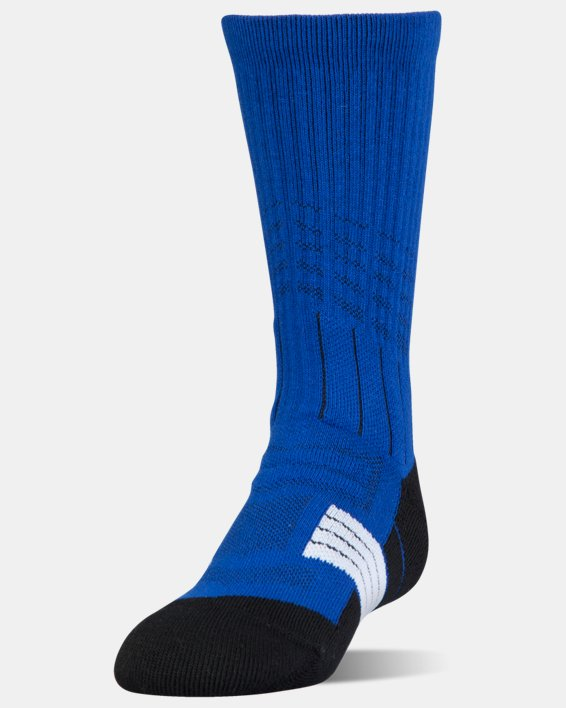 Boys' UA Unrivaled Crew Socks, Blue, pdpMainDesktop image number 0