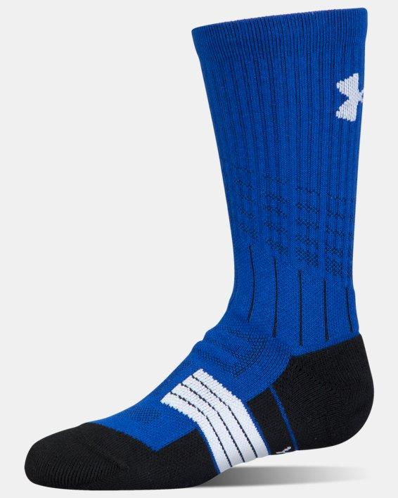 Boys' UA Unrivaled Crew Socks, Blue, pdpMainDesktop image number 3