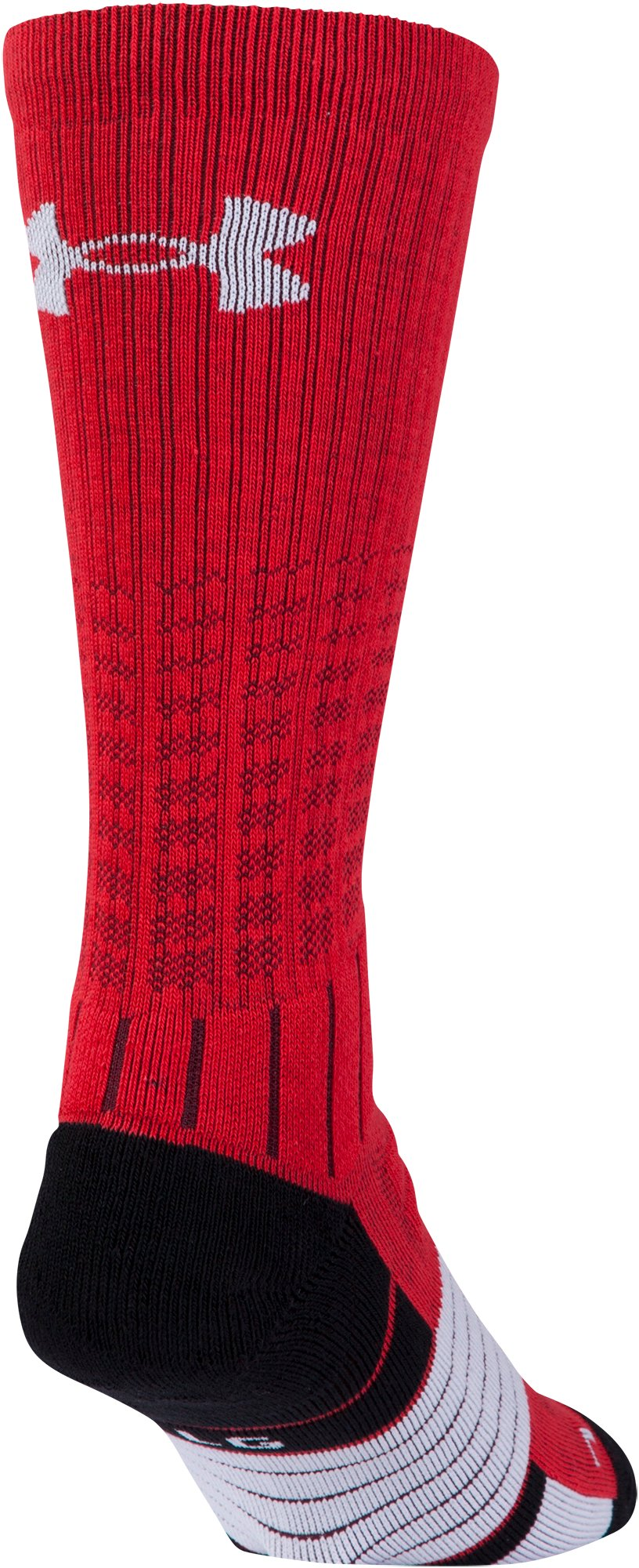 Boys' UA Unrivaled Crew Socks, Red, undefined