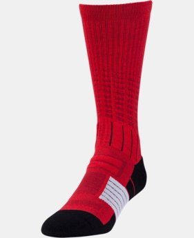 New Arrival Boys' UA Unrivaled Crew Socks   $13.99