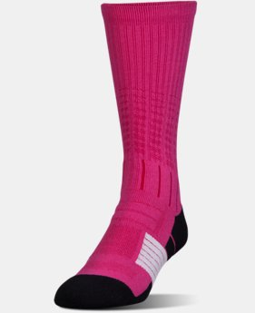 New Arrival  Boys' UA Unrivaled Crew Socks  1 Color $15.99