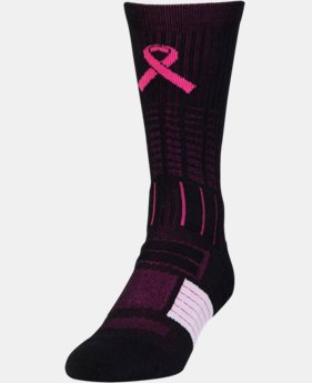 Men's UA Power In Pink® Unrivaled Crew Socks LIMITED TIME: FREE U.S. SHIPPING 1 Color $14.99