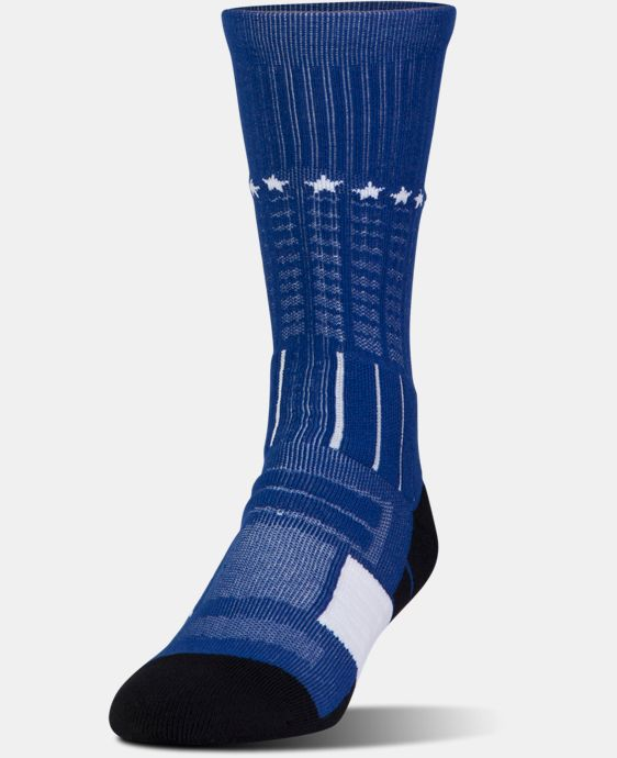 Men's UA Freedom Unrivaled Crew Socks LIMITED TIME: FREE U.S. SHIPPING 2 Colors $14.99