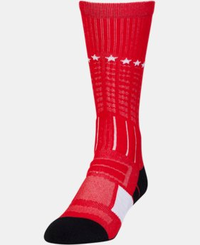 New Arrival Men's UA Freedom Unrivaled Crew Socks  1 Color $14.99