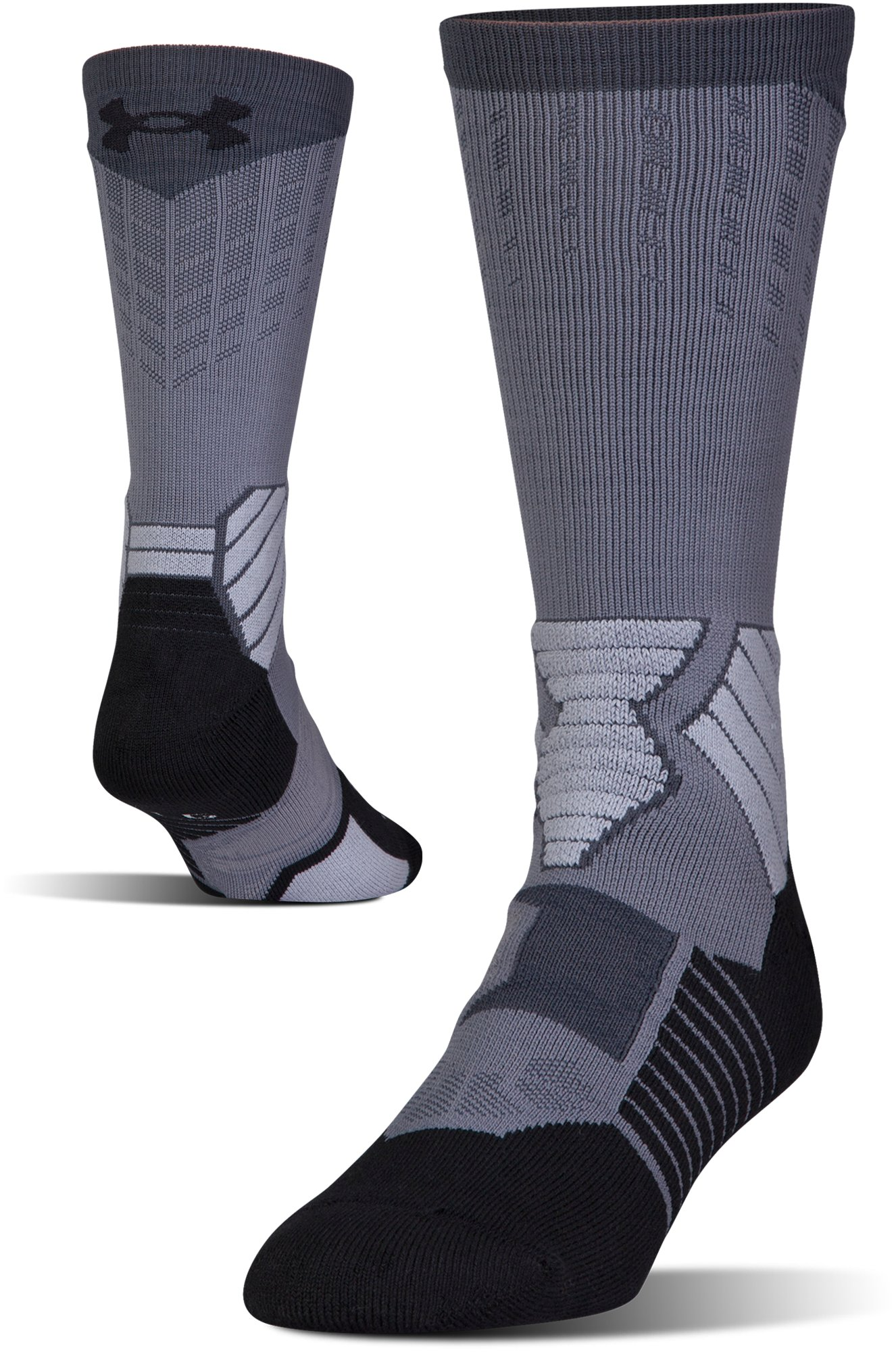 Men's UA Basketball Drive Crew Socks, Graphite