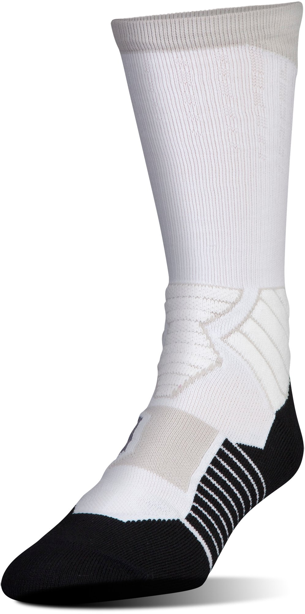 Men's UA Basketball Drive Crew Socks, White
