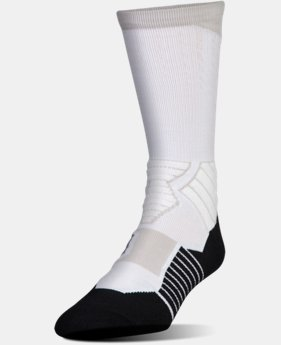 Men's UA Basketball Drive Crew Socks LIMITED TIME: FREE U.S. SHIPPING 2 Colors $17.99
