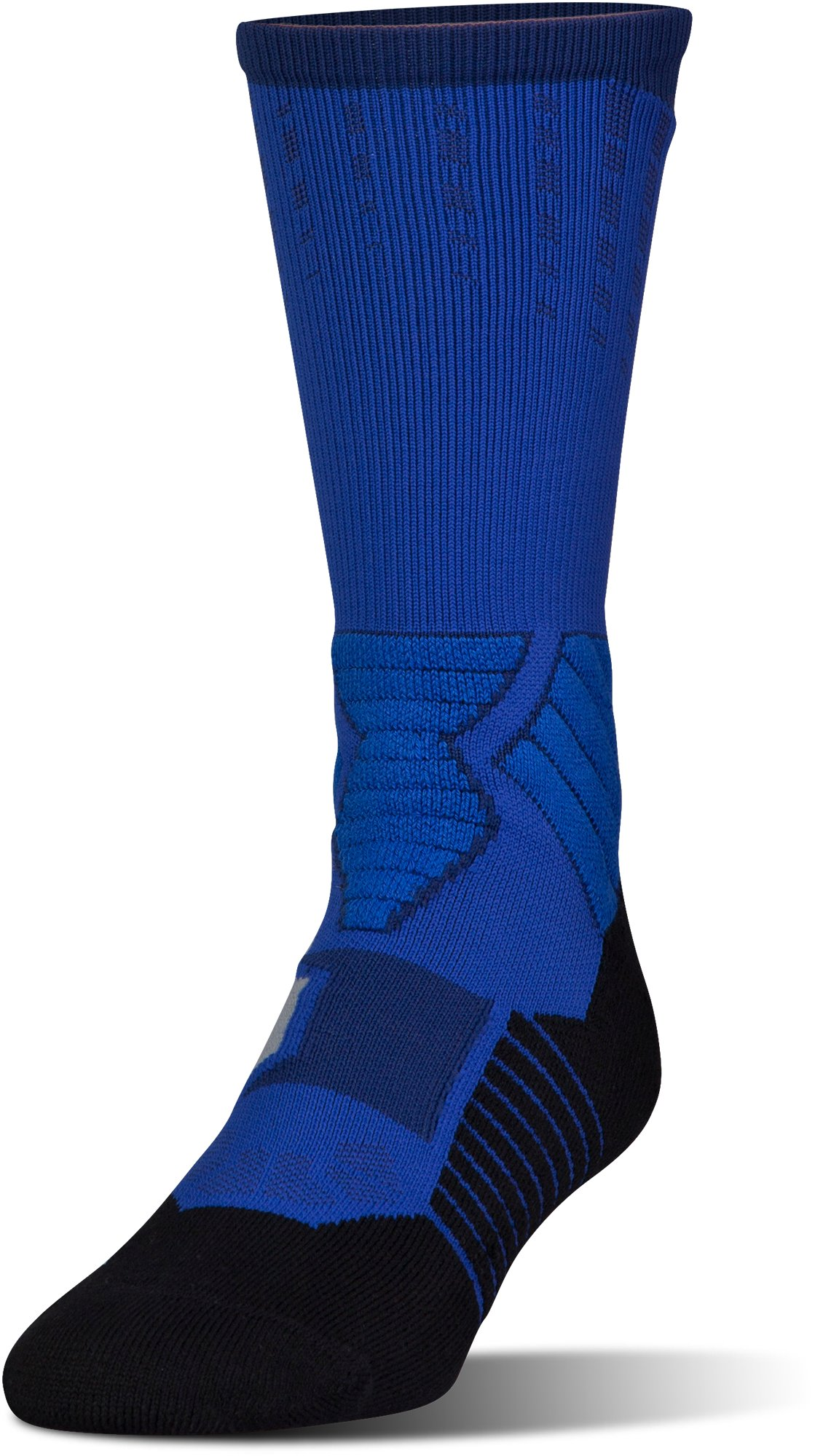 Men's UA Basketball Drive Crew Socks, Royal, undefined