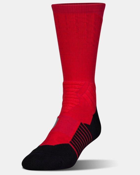 Men's UA Basketball Drive Crew Socks, Red, pdpMainDesktop image number 0