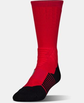New Arrival Men's UA Basketball Drive Crew Socks  1 Color $17.99