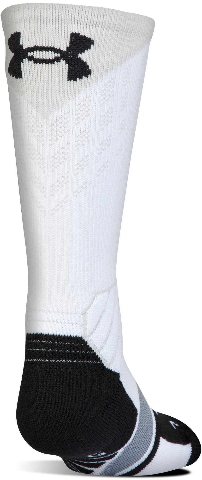 Boys' UA Basketball Drive Crew Socks, Graphite, undefined