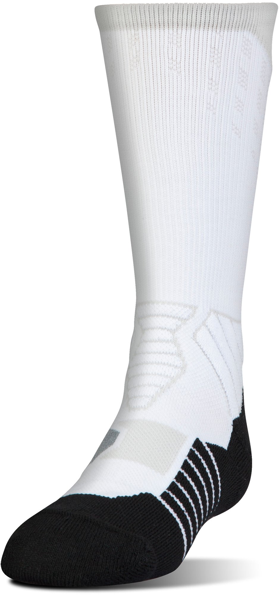 Boys' UA Basketball Drive Crew Socks, Graphite,