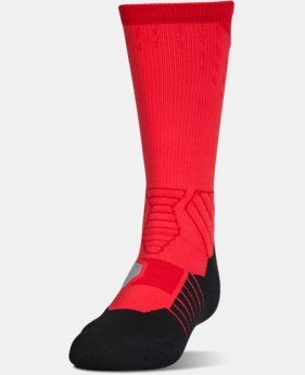 Boys' UA Basketball Drive Crew Socks  1  Color $17