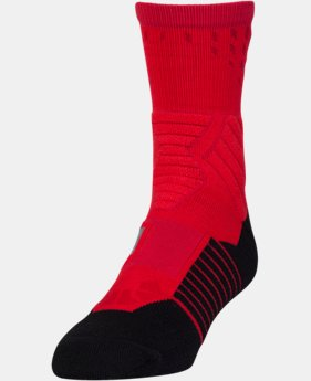 New Arrival Men's UA Basketball Drive Mid Socks  1 Color $14.99