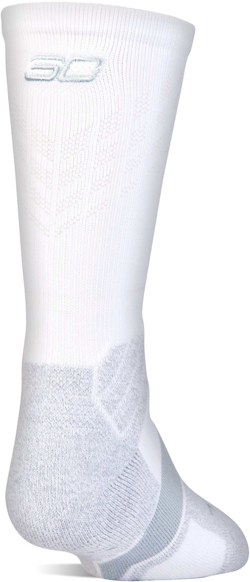 Boys' SC30 Drive Crew Sock, White, zoomed image