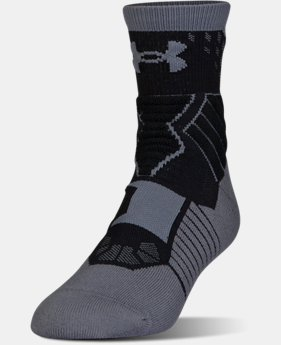 Men's UA Drive SC30 Mid Basketball Socks  1 Color $18